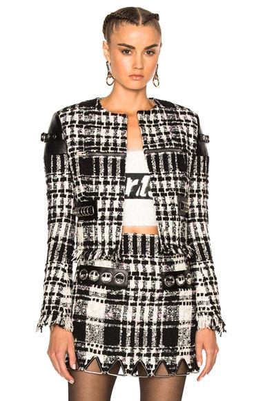 Alexander Wang Short Jacket in Black & White