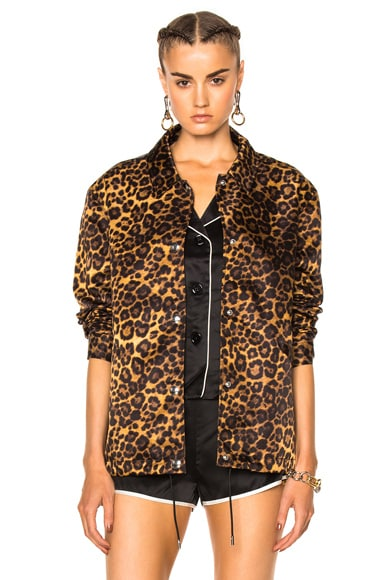 Alexander Wang Embroidered Patch Jacket in Leopard