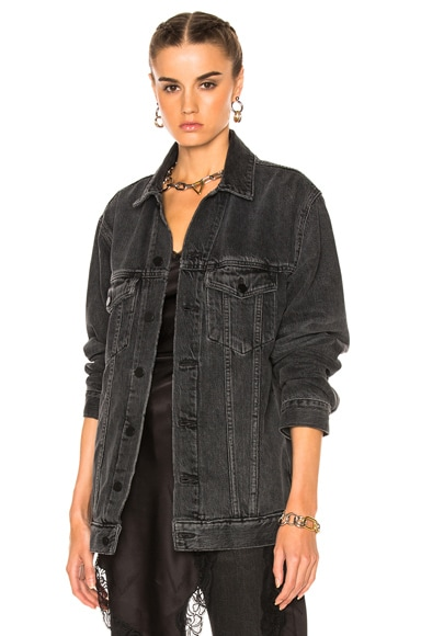 Alexander Wang Daze Jacket in Gray Aged