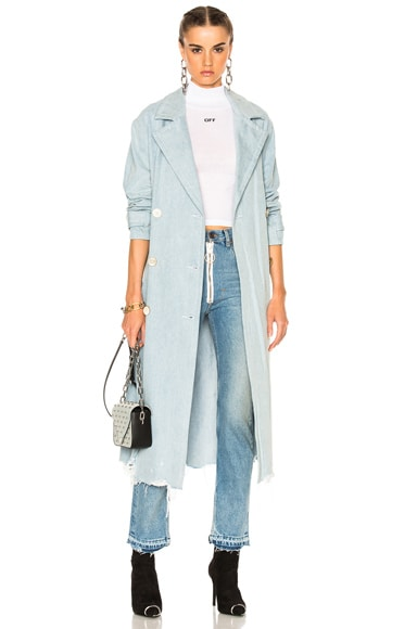 Alexander Wang Oversized Trench Coat in Light Indigo