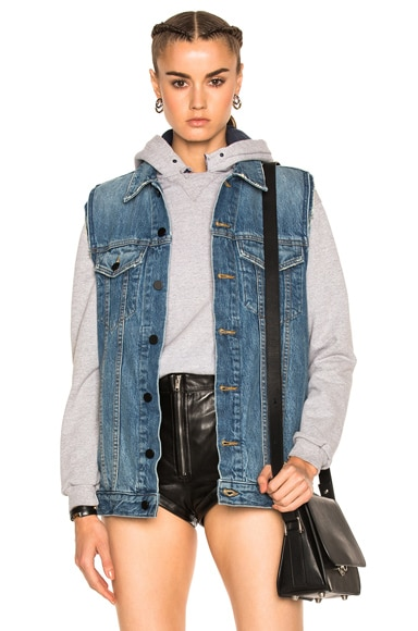 Alexander Wang Daze Vest in Light Indigo Aged