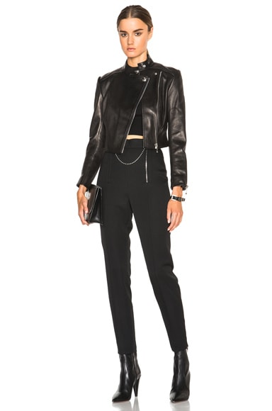 Wool Tailoring Pants with Ball Chain Zipper