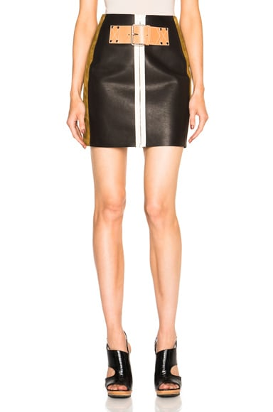 Alexander Wang Patchwork Skirt in Onyx