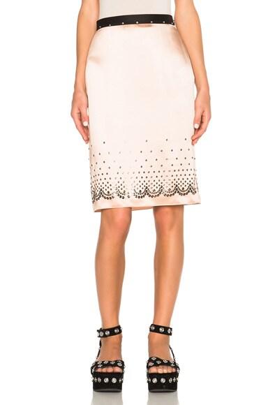 Alexander Wang Nailhead Slip Skirt in Blush