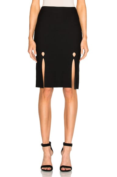 Alexander Wang Keyhole Pencil Skirt in Jet