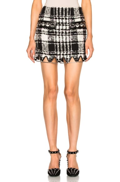 Alexander Wang Mini Triangle Hem Skirt in Black & White