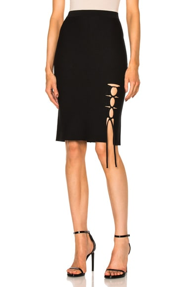 Alexander Wang Side Slit Lacing Skirt in Matrix
