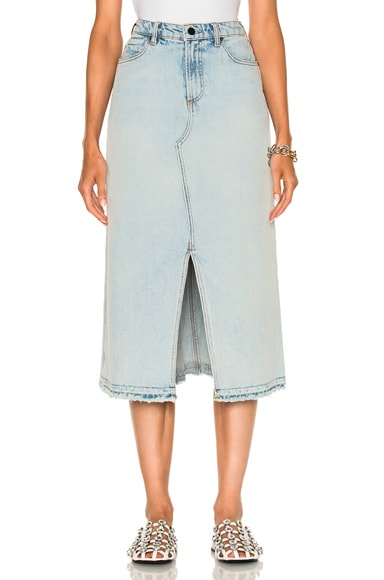 Alexander Wang Midi Skirt in Bleach