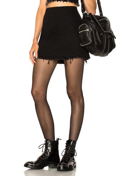 Zip Mini Skirt
