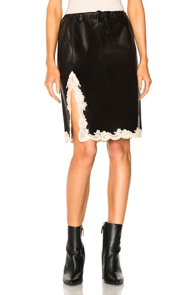 Above the Knee Skirt with Lace Hem