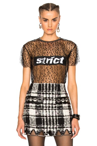 Alexander Wang Lace Patch Top in Black