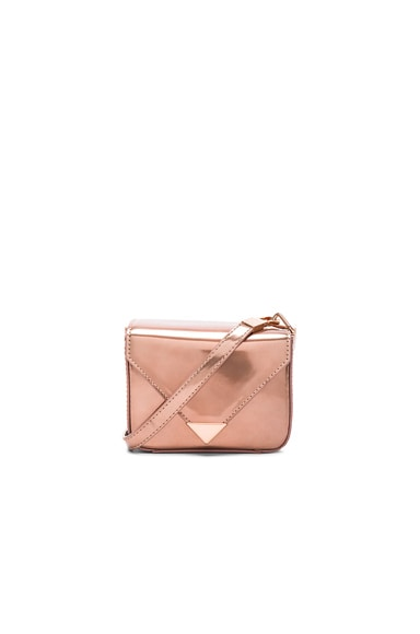 Alexander Wang Mini Prisma Envelope Crossbody in Rose Gold