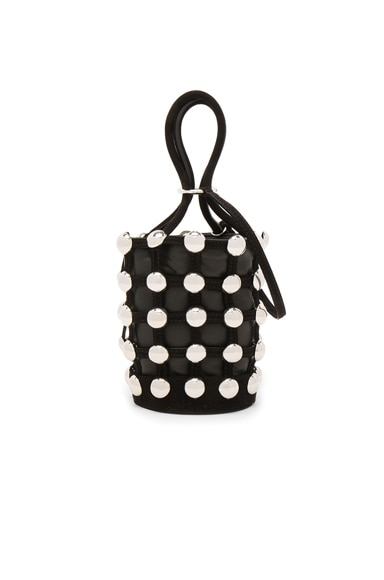 Alexander Wang Roxy Mini Bucket Suede Studded Bag in Black