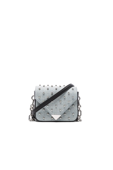 Alexander Wang Prism Envelope Chain Studded Bag in Denim