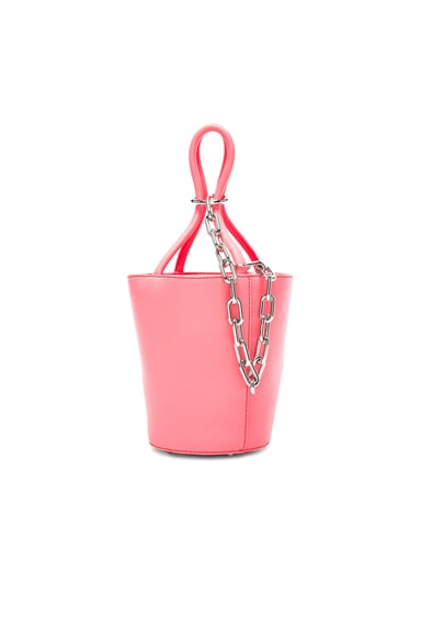 Alexander Wang Roxy Mini Bucket Bag in Fluo Coral
