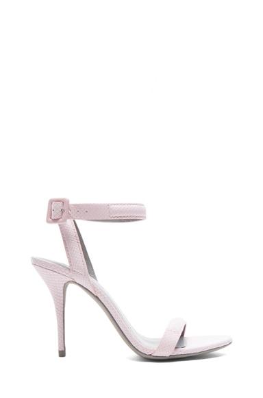 Antonia Lizard Embossed Leather Heels