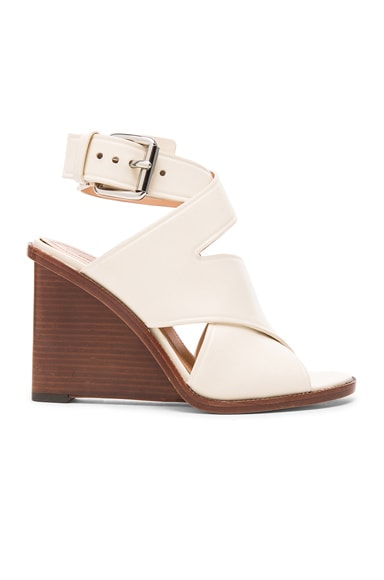 Alexander Wang Elisa Leather Wedges in Venetian