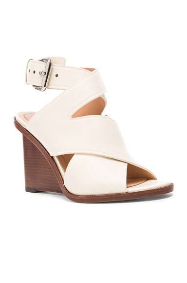 Elisa Leather Wedges