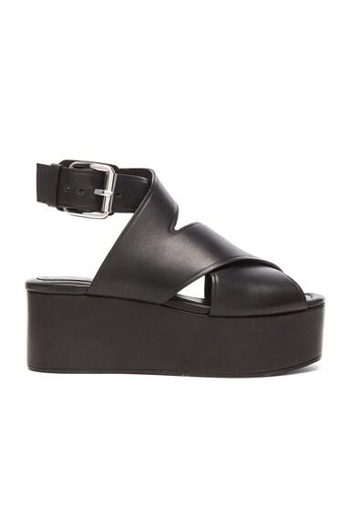 Alexander Wang Rudy Leather Platform Sandals in Black
