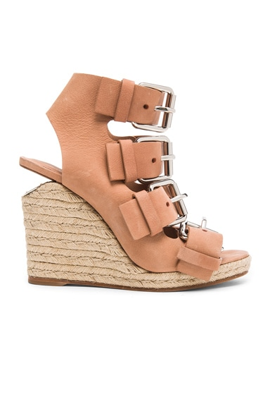 Alexander Wang Jo Leather Wedges in Blush
