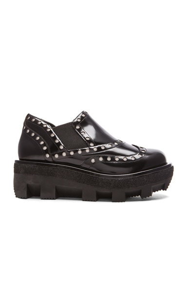Alexander Wang Steph Spazzolato Low Leather Oxfords in Black
