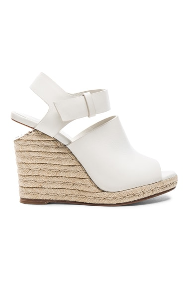 Alexander Wang Tori Wedge in Ash Suede