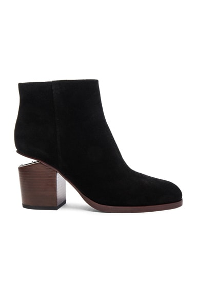 Alexander Wang Suede Gabi Booties in Black