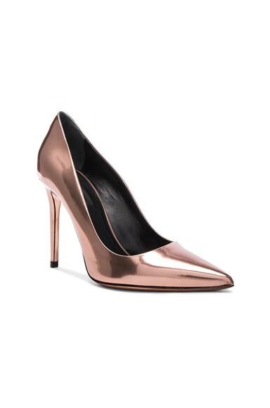 Leather Tia Mirror Heels