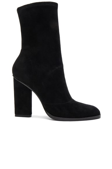 Alexander Wang Suede Gia Booties in Black