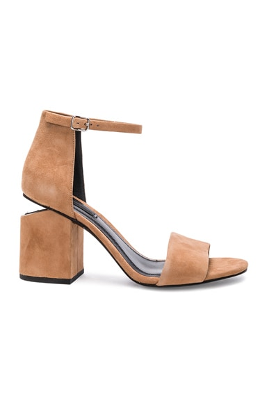 Alexander Wang Abby Suede Heels in Clay