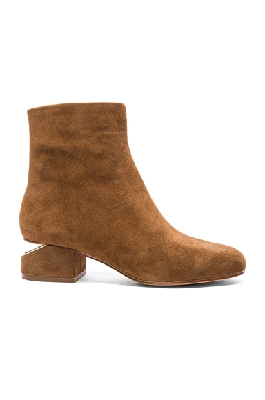 Alexander Wang Suede Kelly Boots in Dark Truffle