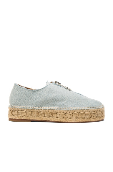 Alexander Wang Denim Devon Espadrilles in Light Indigo