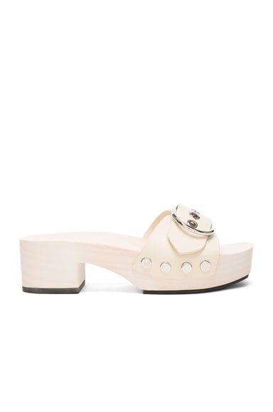 Alexander Wang Leather Maya Sandals in Bone