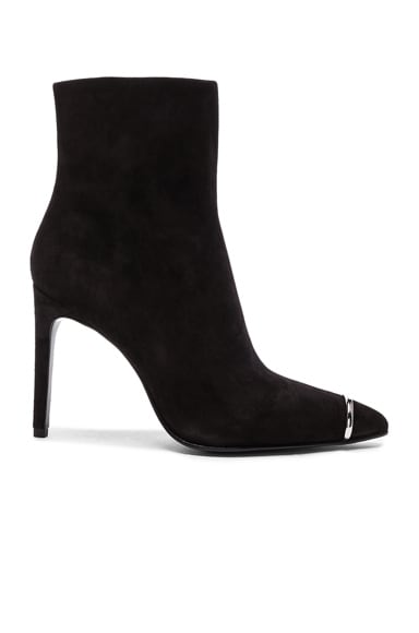 Alexander Wang Suede Kinga Boots in Black Suede