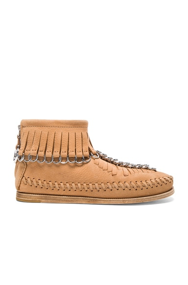Alexander Wang Leather Montana Booties in Clay