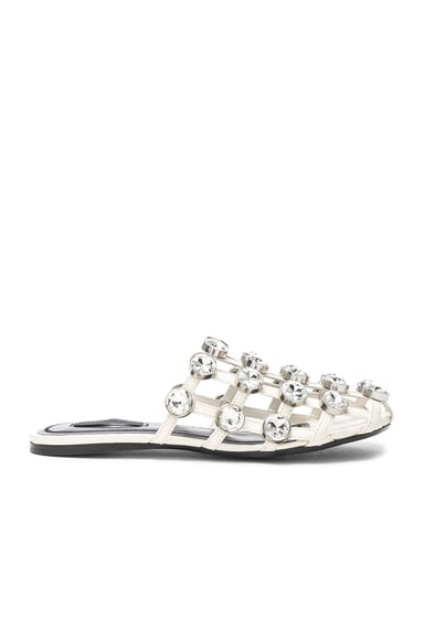 Jeweled Leather Amelia Slides Alexander Wang