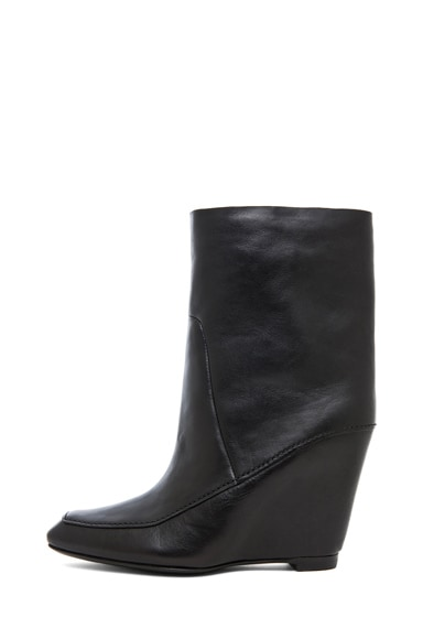 Cato Leather Wedge Boot