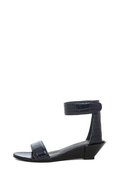 Vika Wedge Croc Printed Sandal