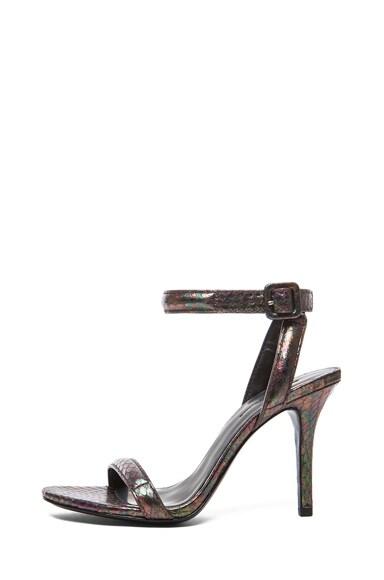 Antonia Shiny Water Snakeskin Heel