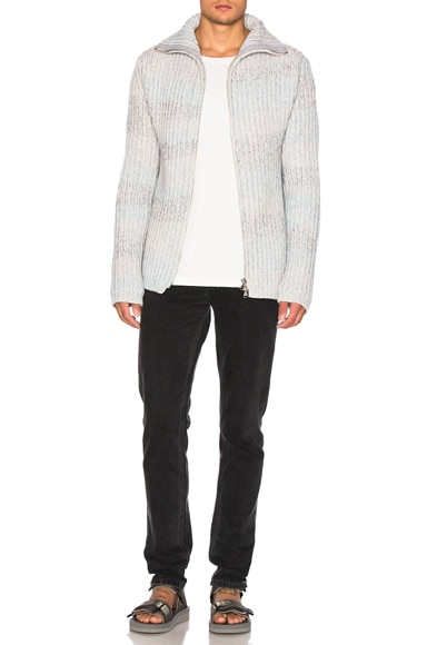 Hand Loom Cashmere Rib Sweater