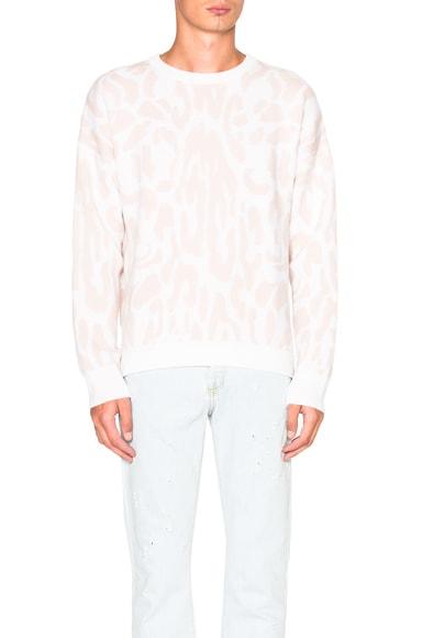 Cashmere Leopard Jacquard Sweater
