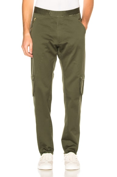 Baja East Cotton Canvas Trousers in Olive
