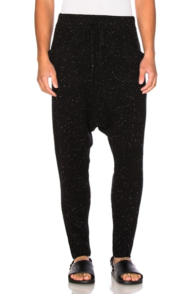 Baja East Cashmere Fisherman Rib Pants in Galaxy