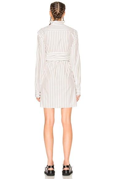 Wide Stripe Poplin Dress