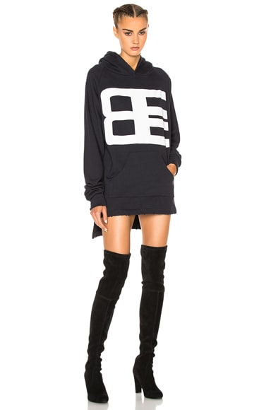 Baja East French Terry Graphic Sweatshirt Dress in Embassy