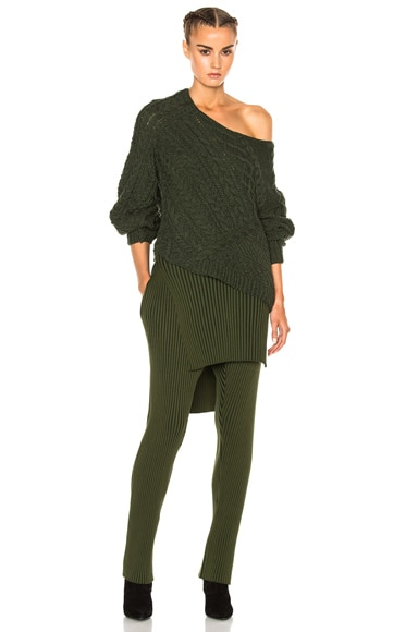 Wool Cashmere Cable Sweater