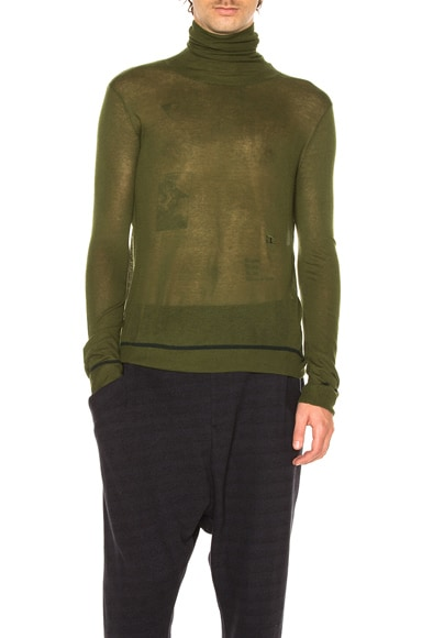 Baja East Viscose & Cashmere Sweater in Olive