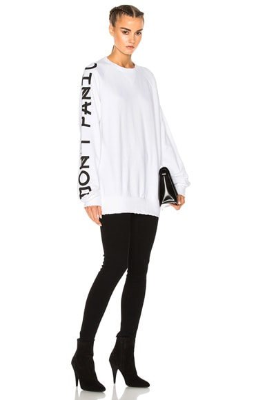 French Terry Graphic Sleeve Sweatshirt