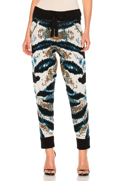 Baja East Cashmere Jacquard Pant in Tiger