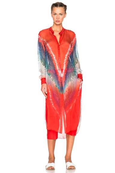 Tie Dye Print Satin Trousers